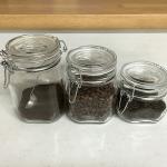 無印良品の保存容器「ソーダガラス密封ビン」